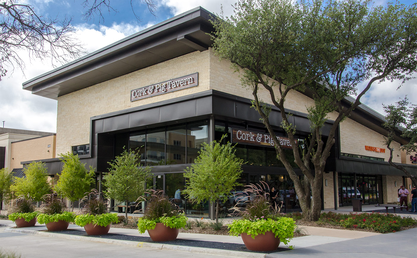 Outside of Cork & Pig Tavern - Las Colinas